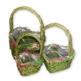Травяное кашпо в виде сердечек (комплект)