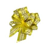 Декоративный бант-шар (желтый с полосой)