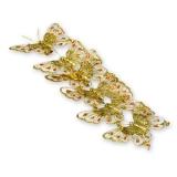 Декоративные бабочки (золото, с блестками)