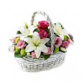 "Корзина с цветами ""Виктория"""