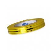 Лента (желтая, узкая, с полосой)