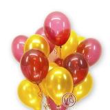 Облако шаров (красные, золото)