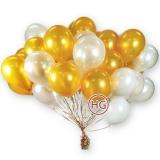 Облако из шаров (белые, золото)