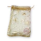 Мешочки из органзы (золотой)