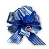 Бант-шар (синий с полосками, голограмма)