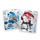 Подарочные пакеты (Снеговик, малые)