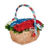 "Корзина цветов ""Патриот"""