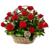 """Подарочная корзина """"Красные розы"""""""