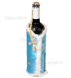 """Декор бутылки """"Снегурочка"""""""