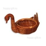 "Плетеная корзина ""Лебедь"""